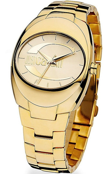 Relógio Feminino Original Dourado Just Cavalli 18k Lindo