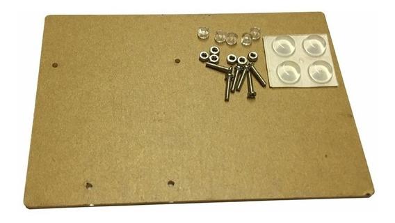 Base Acrilico Arduino Uno Protoboard Parafusos Espaçadores