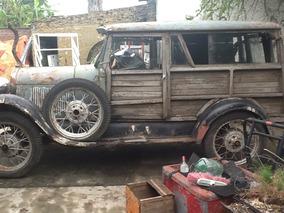 Ford A Woody Caja Madera Cachila Muy Antigua