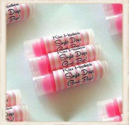 Los Favores Del Partido Lip Balm Personalizados En Crema De