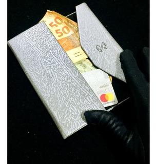 Carteira Case Porta Cartão Dinheiro Documento Cédula Rg Luxo