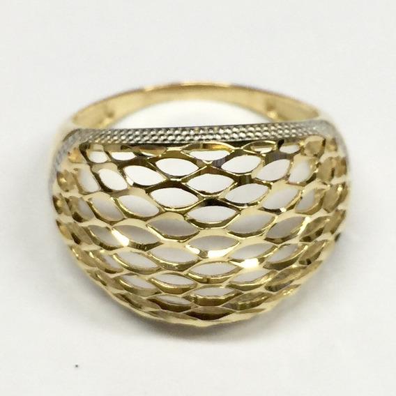 Labelejoias Anel Feminino Oval Diamantado Ouro Amarelo 18k