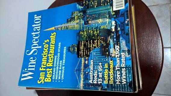 Revistas Wine Spectator Lote Com 15 Revistas