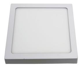 Luminária Plafon Sobrepor Led 18w Quadrado Led Branco Frio