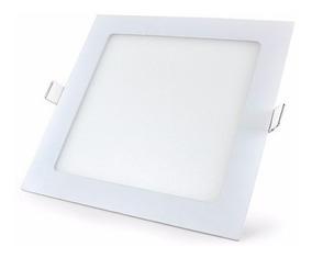 Luminaria De Embutir Led Painel 18w 22,5cm Quadrado Gesso