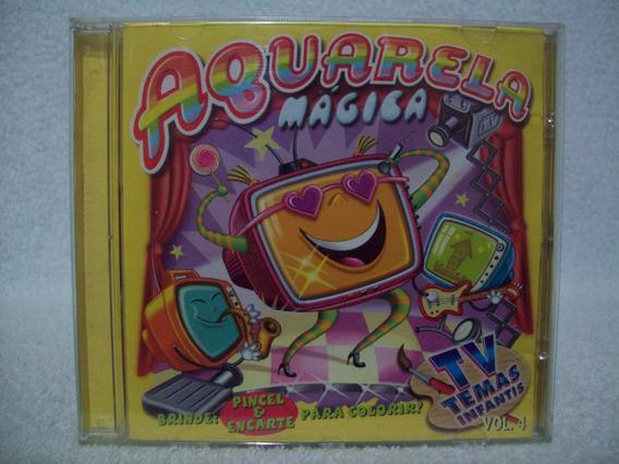 Cd Aquarela Mágica- Volume 4- Xuxa, Eliana, Paquitas,