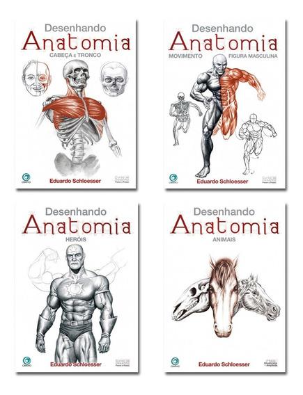 Desenhando Anatomia - Kit Com 4 Livros - Pronta Entrega
