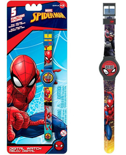 Reloj Digital Spider Man Infantil Original New Smrj6 Bigshop