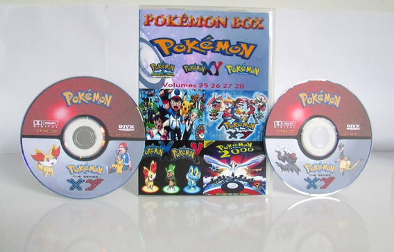 Todas As Temporadas Pokémon Box Completo Dublado ( 36 Dvds )