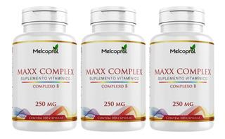 3 Vitaminas Do Complexo B 100 Caps 250 Mg (300 Caps )
