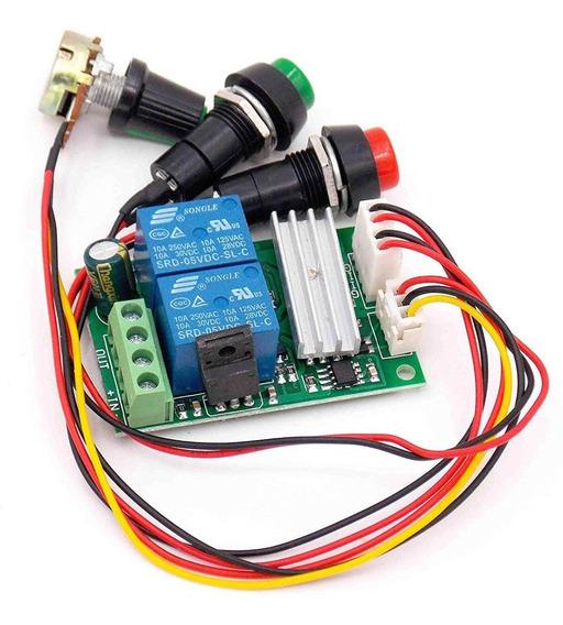 Controlador Velocidade Motor Cc 6-24v Reversível Dimmer Pwm