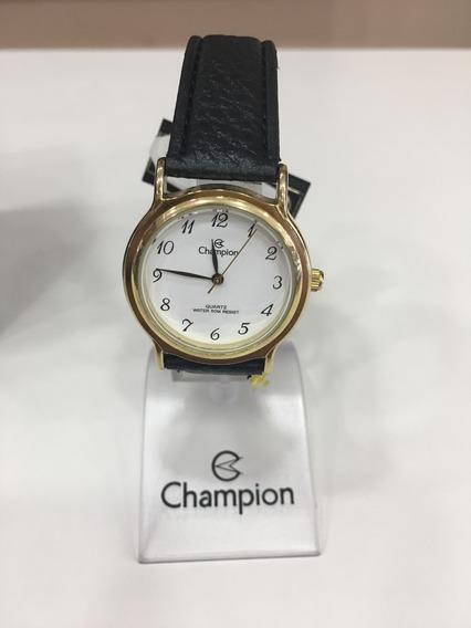 Relógio De Pulso Champion Cn28026 Dourado E Branco Couro