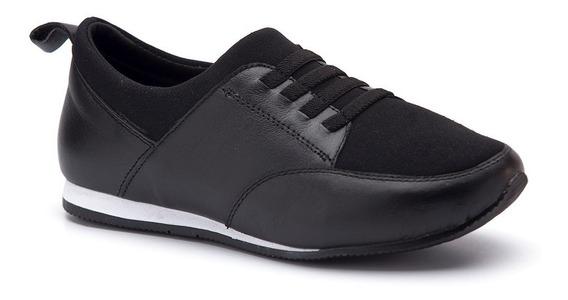 Sapatênis Feminino 605 Em Techprene Preto Doctor Shoes