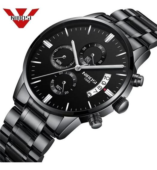 Relógio Nibosi Original Todo Funcional - Total Imports
