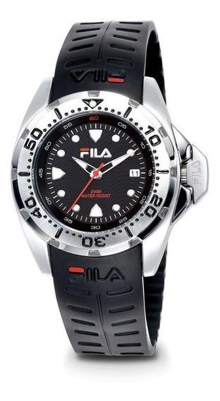 Relógio De Pulso Fila Masculino Pulseira Silicone 318-13