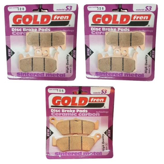 Kit Pastilhas D Freio Sinterizadas Goldfren S3 328 106 Bmw 1200 Gs R1200gs Lc 2013 2014 2015 2016 2017 2018 2019