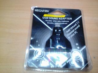 Adaptador De Sonido Usb Para Computadoras