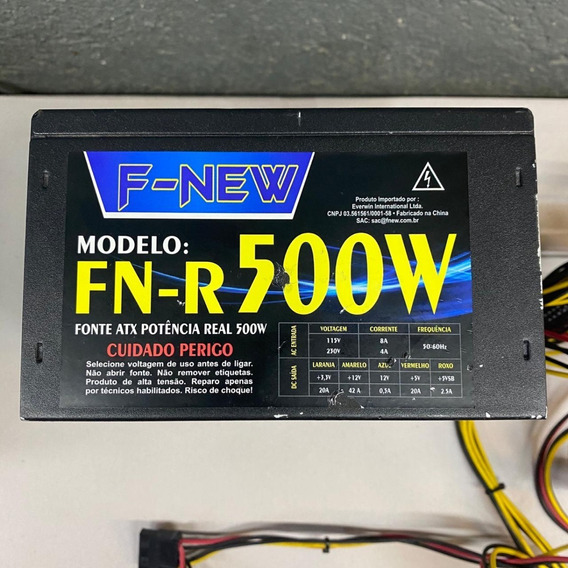 Fonte Real F-new Model: Fn-r500w 24p 500w C/ Pci-e Sata