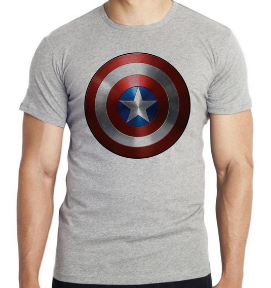 Camiseta Infantil Kids Capitao America Escudo Marvel Avenger