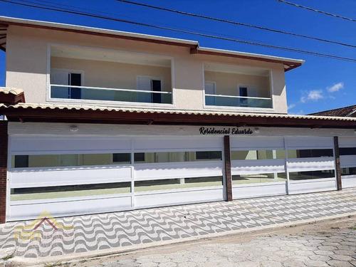 Imagem 1 de 24 de Excelente Casa De Condomínio Sobreposta C/ Quintal De 2 Dormitórios À Venda, 300mts Da Praia, Por R$ 230.000 - Caiçara - Praia Grande/sp - Ca0848