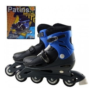 Patins Roller In-line 29 A 32 Criança Azul Meninos Ajustavel