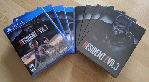 Imagen 1 de 8 de Resident Evil 3: Videojuego + Steelbook Edición Limitada Ps4