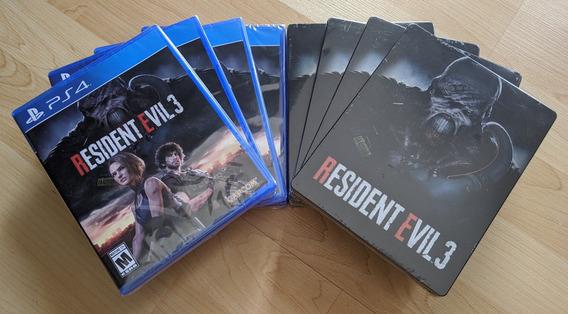 Resident Evil 3: Videojuego + Steelbook Edición Limitada Ps4