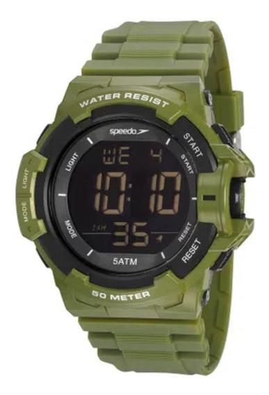 Relógio Masculino Speedo Verde Militar Digital Original + Nf