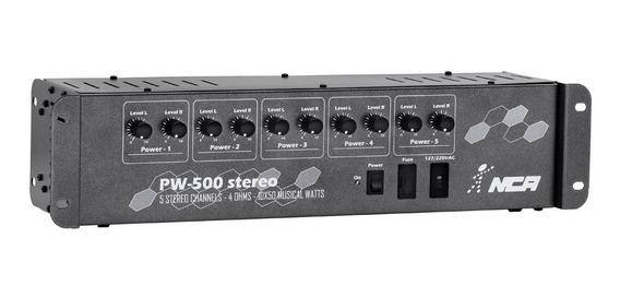 Pré-amplificador Para Som Ambiente Nca Pw500 St