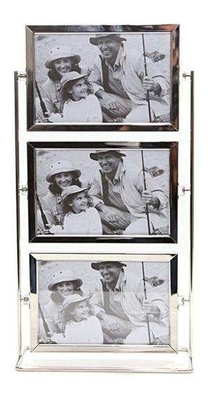 Porta Retrato Para 3 Fotos Giratório - Lindo Para Sua Sala