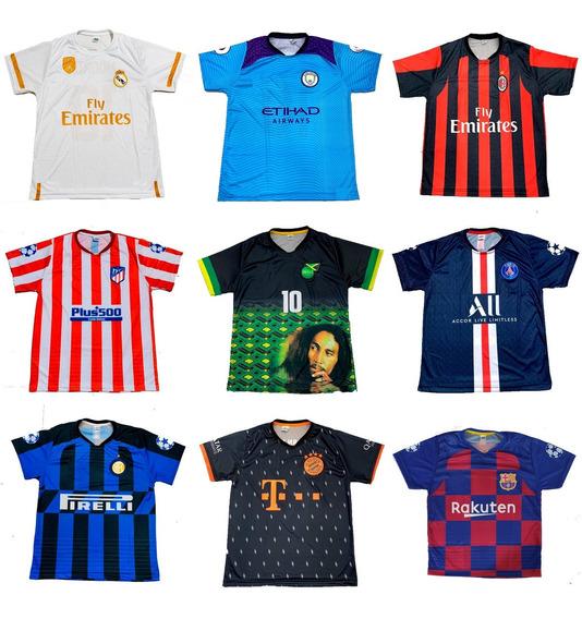 Kit 10 Camisas De Futebol Atacado De Time 150 Modelos 2020