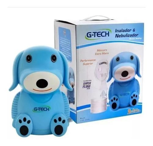Imagem 1 de 5 de Inalador E Nebulizador G-tech Infantil Cachorro Azul Nebdog