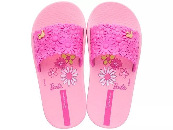 Sandália Slide Feminino Ipanema Barbie Flores Rosa