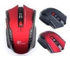 Mouse Gamer Wifi Vermelho Sem Fio Fantech 2.4ghz