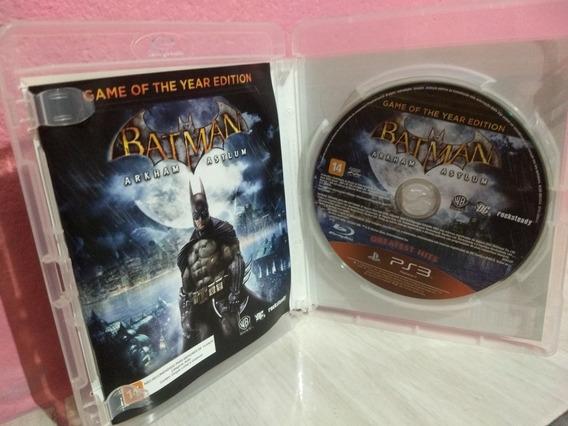Jogo Batman Arkham Asylum Ps3 3d Promoção Cd Original Portug