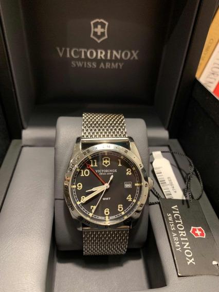 Relógio Suíço Vitctorinox Infantry Gmt Aço