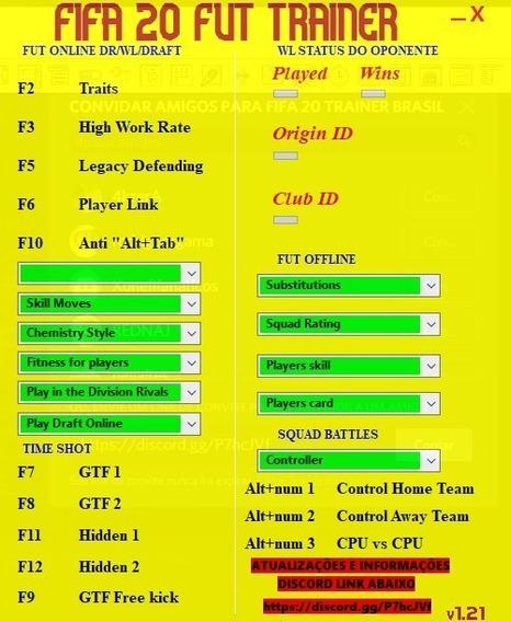 Fifa 20 Trainer Ultimate Team / Squad Battles