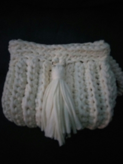 Bolsa Cluth Croche Em Fio De Malha