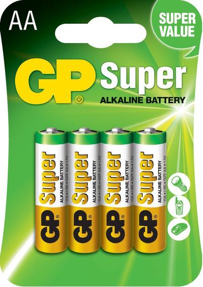 20 Pilhas Aa 2a C/4 Alcalina Super Gp - 5 Cartelas C/2 Un