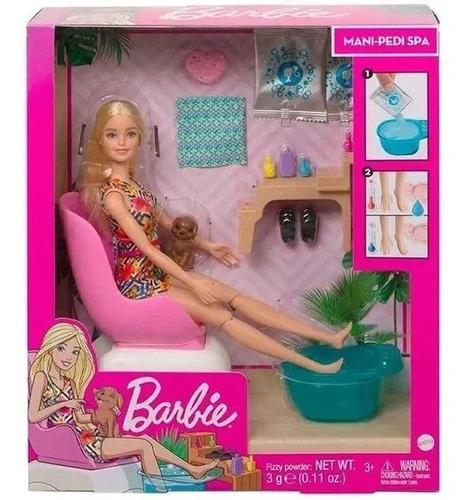 Imagem 1 de 5 de Boneca Barbie Spa - Salão De Manicure Com Pet - Mattel Gnh07