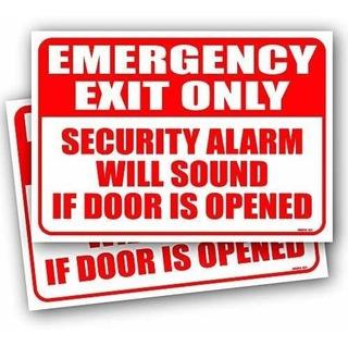 Paquete 2 Salida De Emergencia Solo Alarma Sonara Signo 10