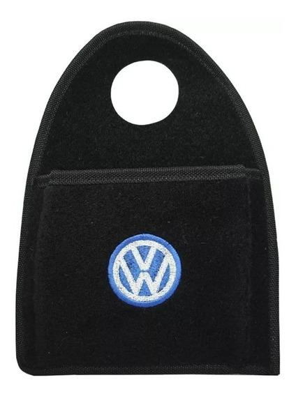 Lixinho Carro Lixeira Lixo Carpete Preto Bordado Volkswagen
