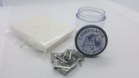 Kit 10x Coils Triple Fused Clatpon Ss316 3*26+40 + Algodão