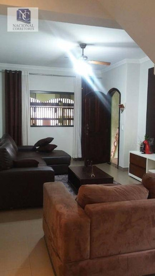 Sobrado Com 3 Dormitórios À Venda, 252 M² Por R$ 630.000 - Parque Oratório - Santo André/sp - So2527