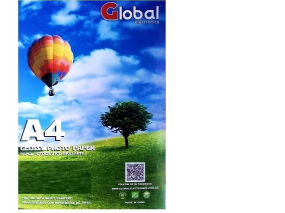 Papel Mate 110grs 100hojas Global Apto Sublimar Precio X20u