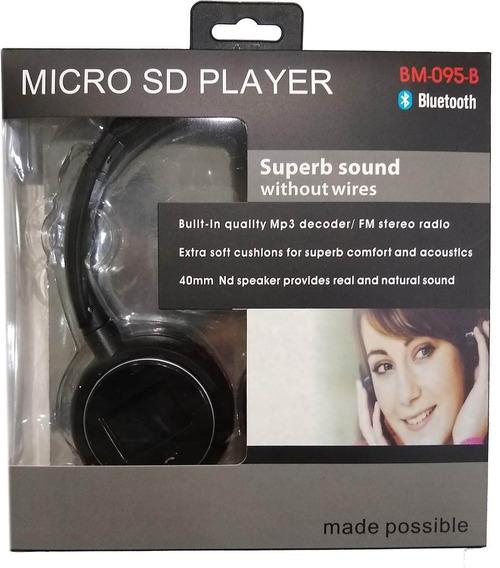 Headphone Bluetooth Usa Cartão Sd E Fm Atende Chamada Fbm