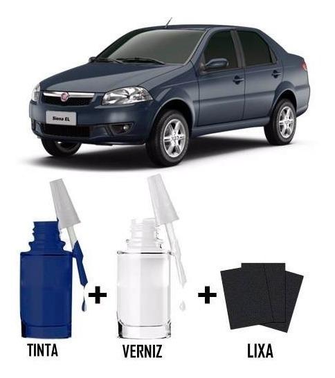 Tinta Tira Risco Retoque Automotivo Fiat Azul Buzios