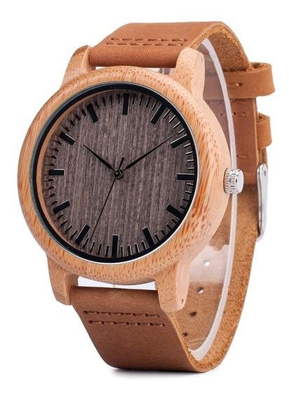 Relógio Unissex Bambu Madeira A18 Analog. Bobo Bird