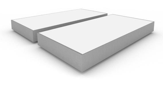 Base Box Pack 2 Individuales Tapizado Gris Con Patas + Envío Gratis