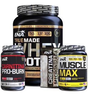Crecimiento Musculos Marcados Creatina + Proteina Whey Combo